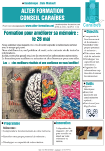 Formation mémoire Guadeloupe Alter Formation Conseil